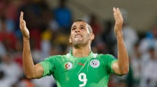 Algeria's Islam Slimani reacts after missing a goal during their African Nations Cup (AFCON 2013) Group D soccer match against Tunisia in Rustenburg, January 22, 2013. REUTERS/Mike Hutchings  (SOUTH AFRICA - Tags: SPORT SOCCER)
