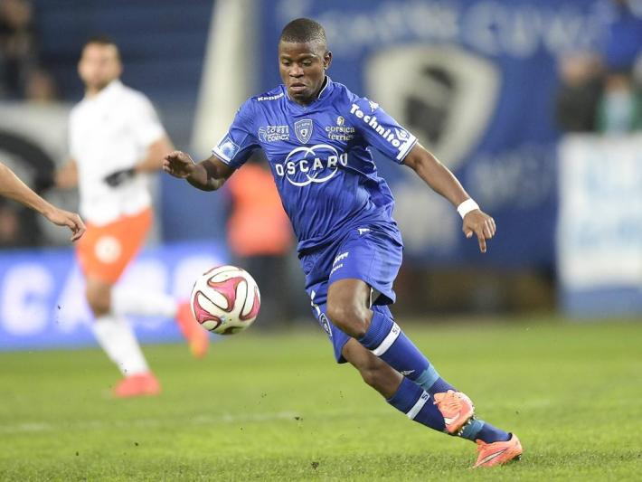 AYITE Floyd (Bastia) FOOTBALL : SC Bastia vs Montpellier - Ligue -08/11/2014 JBAutissier/Panoramic PUBLICATIONxNOTxINxFRAxITAxBEL  Ayite Floyd Bastia Football SC Bastia vs Montpellier Ligue 08 11 2014 JBAutissier Panoramic PUBLICATIONxNOTxINxFRAxITAxBEL