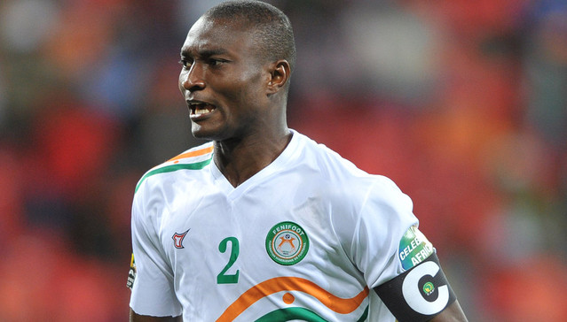 Moussa Maazou of Niger during the 2013 Orange African Cup of Nations match between Niger and Ghana, 28 January 2013, Nelson Mandela Bay Stadium, Port Elizabeth  ©Luigi Bennett/Backpagepix