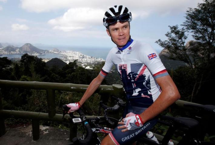 2016 Rio Olympics - Cycling Road training - Men's Road Race - Rio de Janeiro, Brazil - 04/08/2016. Chris Froome (GBR) of United Kingdom trains. REUTERS/Eric Gaillard FOR EDITORIAL USE ONLY. NOT FOR SALE FOR MARKETING OR ADVERTISING CAMPAIGNS.