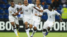 Joie de Masahudu Alhassan - Andre Ayew - Jordan Ayew et Anthony Annan (Ghana)