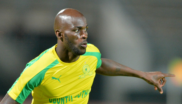 PRETORIA, SOUTH AFRICA - MARCH 10: Anthony Laffor during the CAF Champions League match between Mamelodi Sundowns and Kampala City Council at Lucas Moripe Stadium on March 10, 2017 in Pretoria, South Africa. (Photo by Lefty Shivambu/Gallo Images)