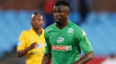 Sedate Akoriko of Amazulu during the 2014 Telkom Knockout Quarter Final match between Mamelodi Sundowns and Amazulu at Loftus Stadium, Pretoria on the 25 October 2014  ©Muzi Ntombela/BackpagePix