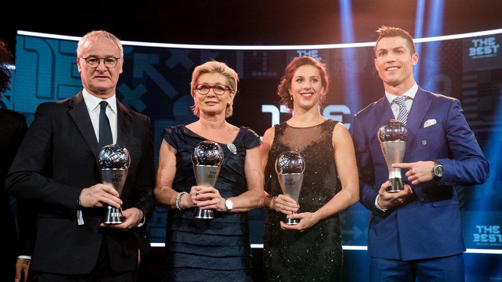 Cristiano élu meilleur joueur, le Real à l'honneur — The Best