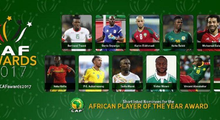 Afrique : Les 11 nominés pour le titre de joueur de l'année