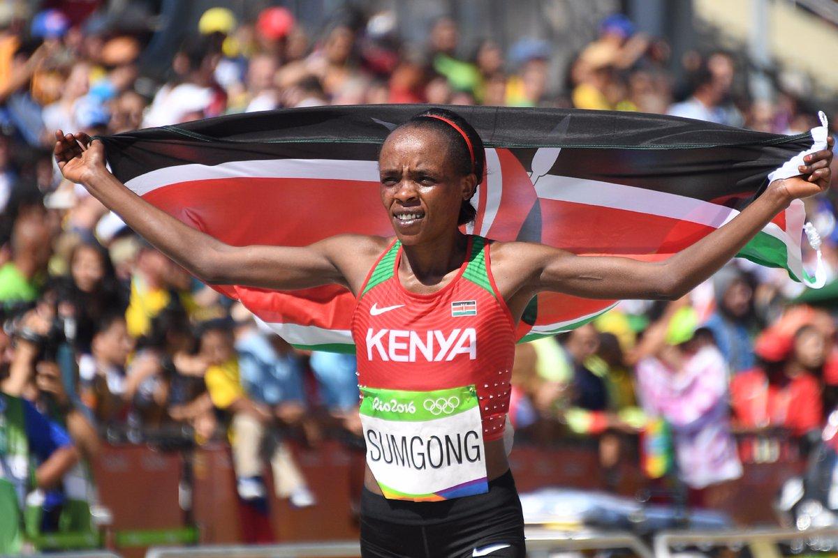 Suspendue quatre ans pour dopage, la Kenyane Jemima Sumgong hors piste