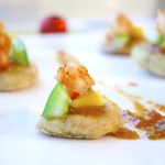 Over-Ripe Plantain and Shrimp Canapes