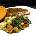 Sweet Potato, Salmon and Vegetable Sauce