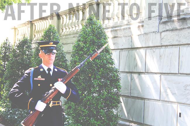 Arlington Guard with Gun