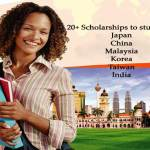 Top 20+ Scholarships to study in Asia – Japan, Malaysia, China, Korean, Taiwan, Singapore etc for International Students