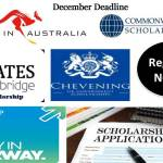 These 15 Prestigious Scholarships for Africans will Close Application By December 2015