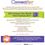 Do you know a Girl Changing the World? Enter for the Girls Impact the World Film Festival 2017. USD20,000