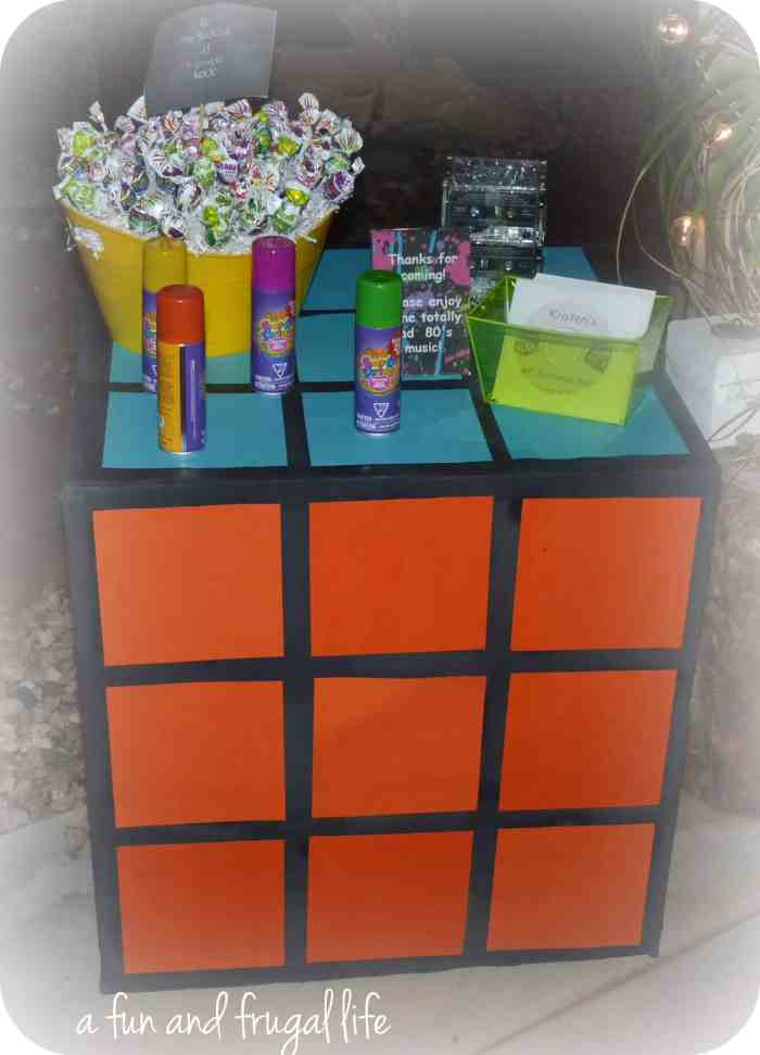 80's theme birthday party from A Fun and Frugal Life