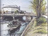 那の津大橋と福岡市民会館