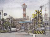 築港線と博多タワー