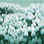 東山魁夷「北山初雪」(木版画)