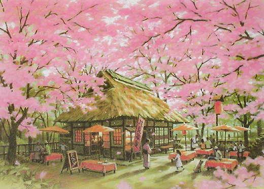 笹倉鉄平「桜茶屋」