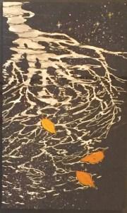 管かおる 木陰(日本画8号)