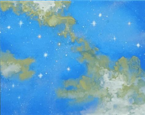 星雲(日本画8号)