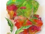 nature sketchbook - 田園の秋(水彩 44×33.5cm)⇒売却済み