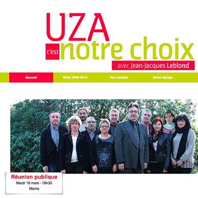 Municipales 2014 : création de sites web