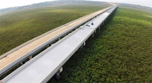 Entebbe Express Way is partly funded by Exim Bank of China