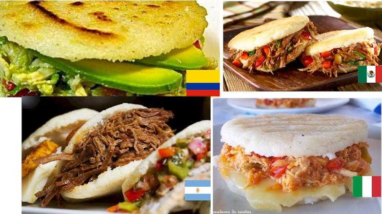 Arepas colombianas que fusionan el sabor propio con los sabores del mundo