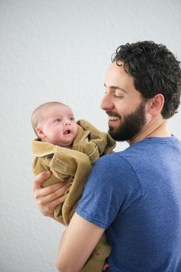 Levi Rizk with baby daughter