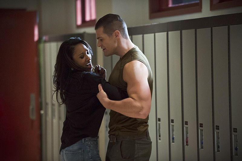 "The Flash -- ""The Flash is Born"" -- Image FLA106b_0057b -- Pictured (L-R): Candice Patton as Iris West and Greg Finley as Tony Woodward -- Photo: Cate Cameron/The CW -- © 2014 The CW Network, LLC. All rights reserved."