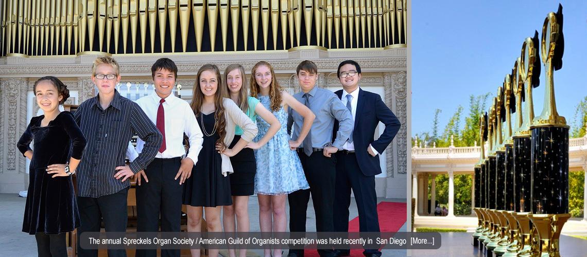 2015 Spreckels Organ Society & AGO Competition Held