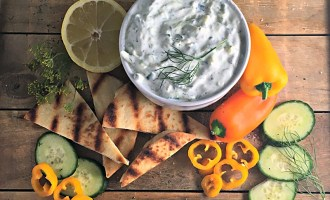 Easy, authentic Tzatziki recipe from A Gouda Life kitchen. Perfect with pita chips, fresh vegetables or over grilled chicken.
