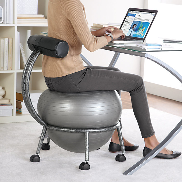 why ball chairs for back aches