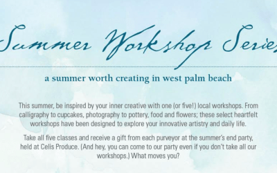 Be Inspired at upcoming Artsy Summer Workshops