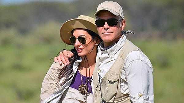 جورج كلوني يظهر مع صديقته اللبنانية مجدداً