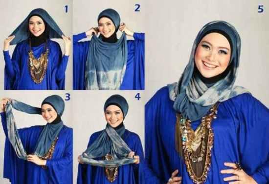 طريقة وضع الحجاب
