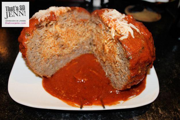 آخر اختراعات المطاعم .. كرة لحم محشية بالسباغيتي!