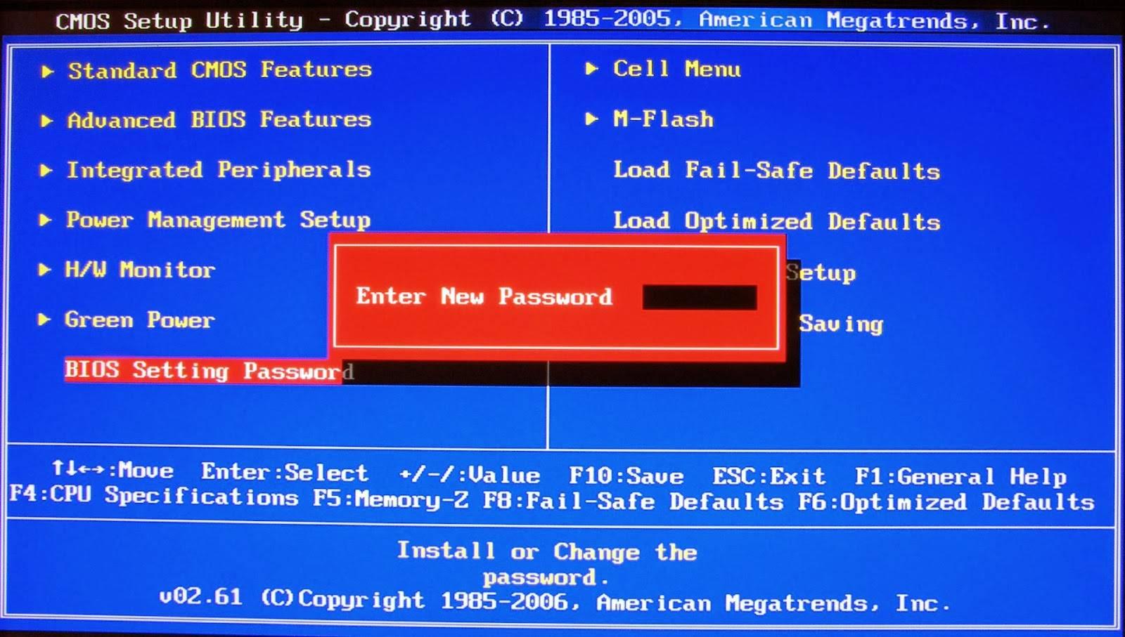 لتصفير كلمة السر في البيوس بسهولة CMOS De-Animator