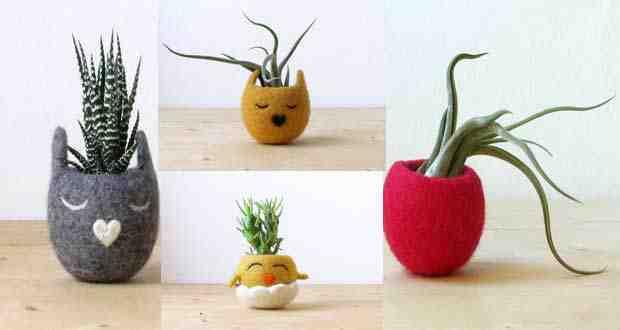 صور أواني لنبات الزينة بأشكال مبتكره ومميزة