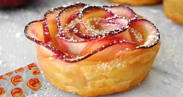 وردة التفاح المميزة و طريقة صنعها خطوة بخطوة