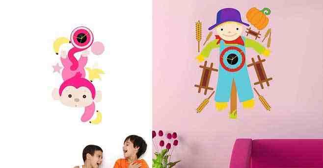 ساعات حائط لغرف الأطفال جميلة و أنيقة جدا
