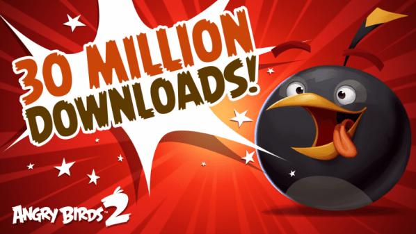 لعبة الطيور الغاضبة 2 من روفيو تحقق 30 مليون تحميل ب أيام