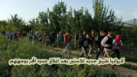 كرواتيا طريق جديد للاجئينبعد اغلاق حدود المجر بوجههم