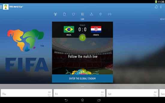 تطبيق فيفا لاخبار الرياضة والمباريات على الاندرويد من الاتحاد الدولي