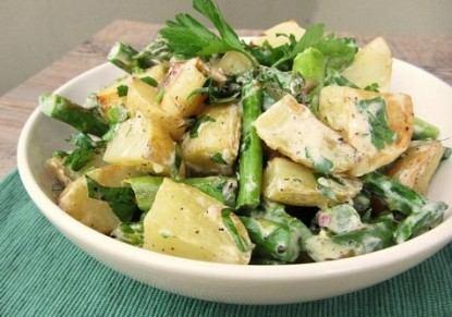 سلطة البطاطا و الهليون من مطبخ احلى عالم