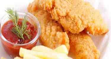 اسكالوب الدجاج المقلي