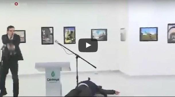 فيديو اغتيال السفير الروسي في انقرة بث مباشر سارع قبل الحذف