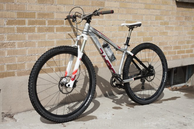 Full-length shot showing off the complete Mason 29er hardtail build and Easton wheels
