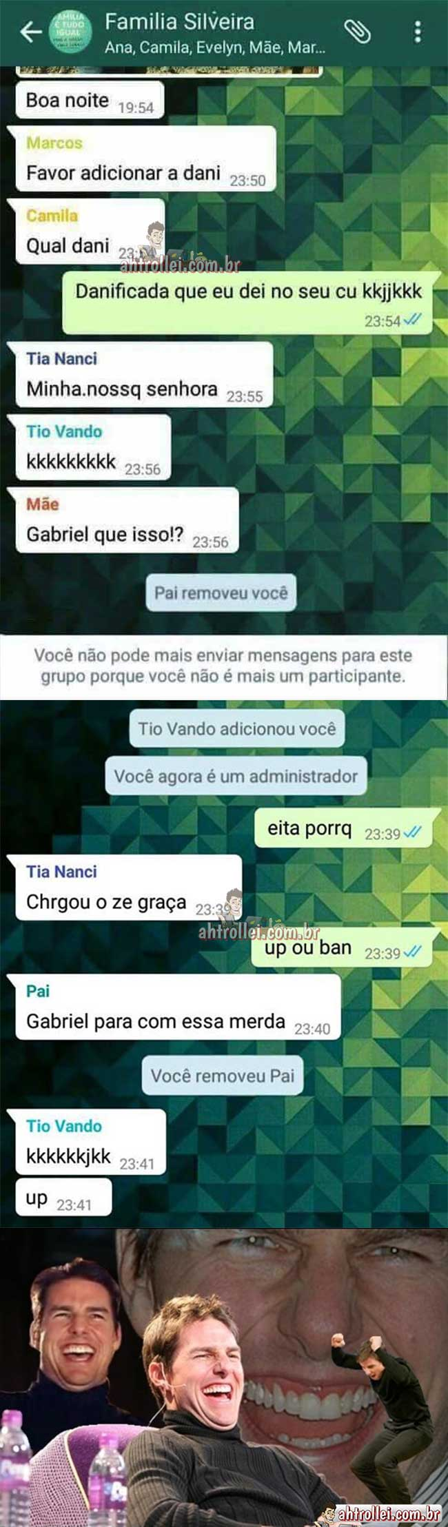 As aventuras do tio Vando no grupo da família