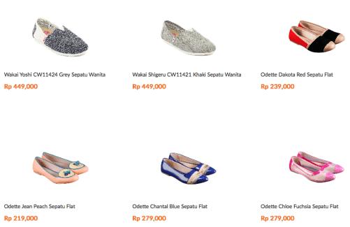 sepatu branded wanita murah terpercaya
