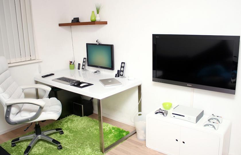 tempat kerja di rumah blogger